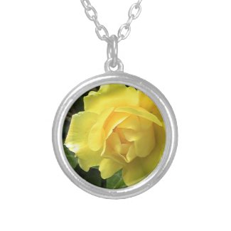 Lovely Yellow Rose Necklace