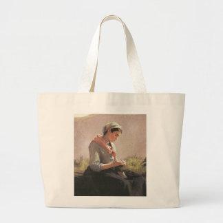 Lovely Young Knitter Jumbo Tote Bag