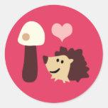 LovelyHedgehog6 Classic Round Sticker