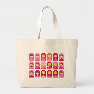 LovelyMatryoshkaTag Large Tote Bag