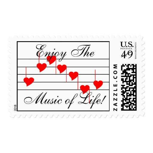 Love'n Notes, Enjoy The Music of Life! Postage Stamps