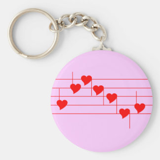 Love'n Notes Pink Key Ring Key Chains