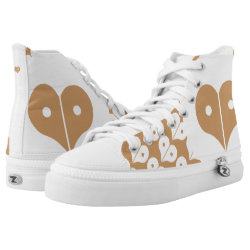 loveNpeace High-Top Sneakers