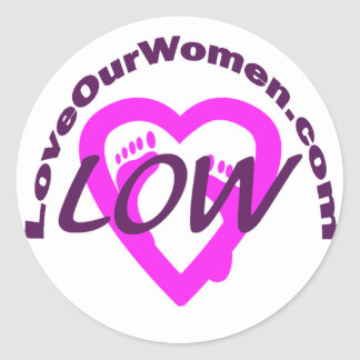 LoveOurWomen Round Sticker