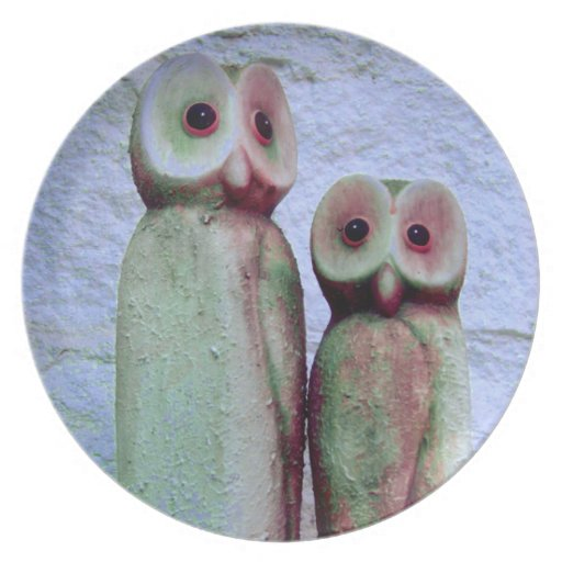 """LoveOwls"" Cute Christmas Animal Design Plate"
