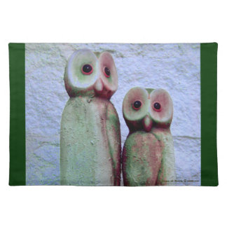 """LoveOwls"" Cute Christmas Holiday Design Placemat"