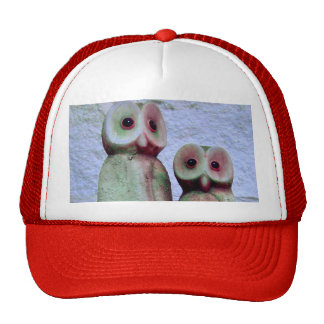 """LoveOwls"" Girly Merry Xmas Holiday Design Trucker Hat"