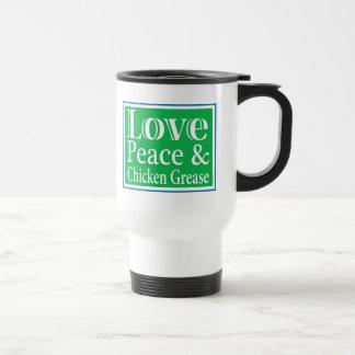 LovePeaceChick para la ropa Taza
