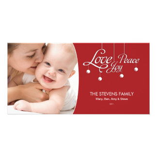 LovePeaceJoy Hanging Ornament Premium Photo Card