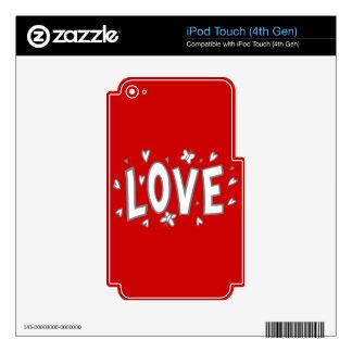 LOVEPNG SKETCHES LOVE HEART BUTTERFLIES CUTE EXPRE iPod TOUCH 4G SKIN