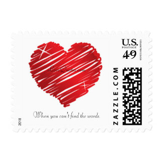 LoveQuotes.com logo personalized stamps