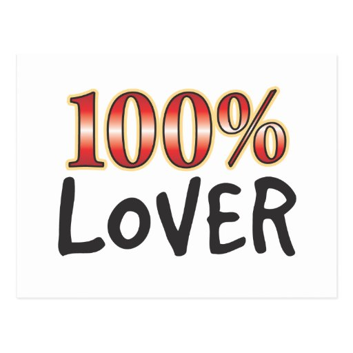 Lover 100 Percent Postcard