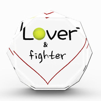 Lover and a Fighter Tennis Gift Acrylic Award