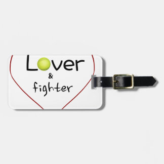 Lover and a Fighter Tennis Gift Bag Tag