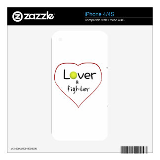 Lover and a Fighter Tennis Gift iPhone 4S Skins