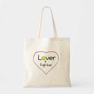 Lover and a Fighter Tennis Gift Tote Bag