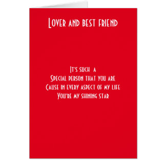 Lover and best friend card