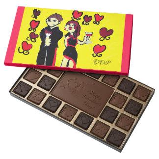 lover art 4 assorted chocolates