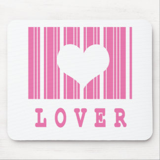 lover barcode design mouse pad
