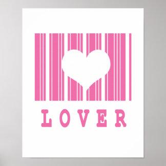 lover barcode design poster