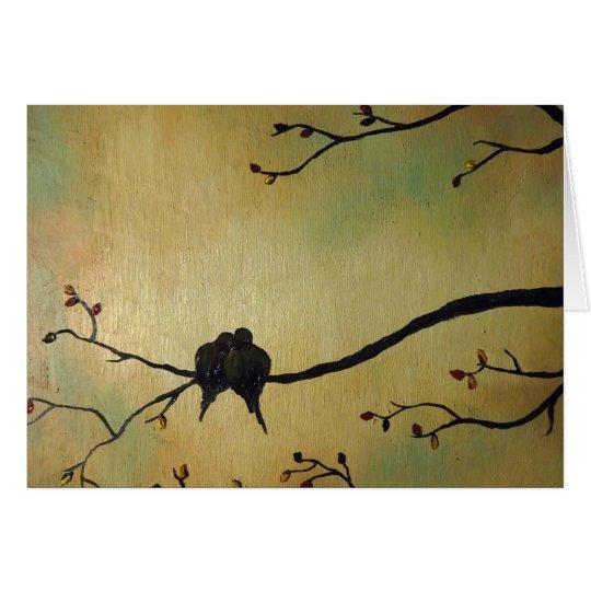 Lover birds card