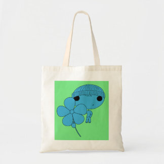 Lover Boy (Blue Body, Green Background) Budget Tote Bag