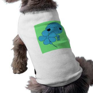 Lover Boy (Blue Body, Green Background) Dog T Shirt