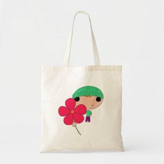 Lover Boy (Hot Pink Flower) Budget Tote Bag