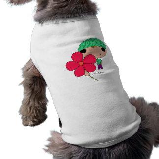 Lover Boy (Hot Pink Flower) Dog T Shirt