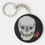 Lover Boy Skull Basic Round Button Keychain