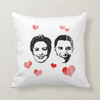 Lover for Hillary and Obama Faded.png Pillows