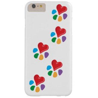 ¡Lover_Heart-Paw_footprints_love animal sus Funda De iPhone 6 Slim