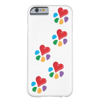 Lover_Heart-Paw_footprints_love animal sus Funda De iPhone 6 Barely There