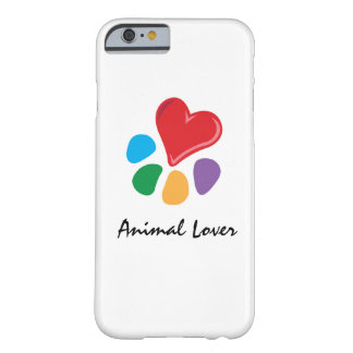 Lover_Heart-Paw_Love animal sus mascotas Funda De iPhone 6 Barely There