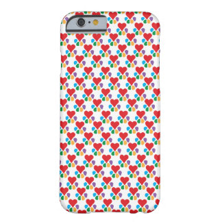 Lover_Heart-Paw_pattern_love animal sus mascotas Funda De iPhone 6 Barely There