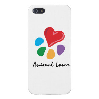 Lover_Heart-Paw_pet animal temático iPhone 5 Protectores