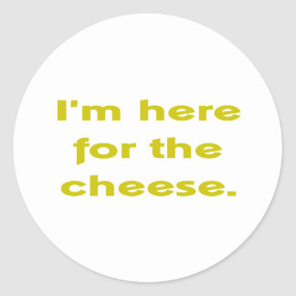 Lover of Cheese Classic Round Sticker