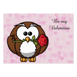 lover owl large business cards (Pack of 100)