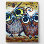 Lover owl family friend photo plaque