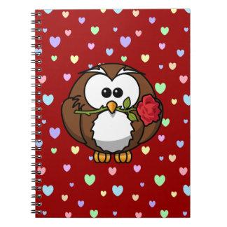 lover owl spiral notebook