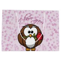 lover owl - Valentine' gift bag