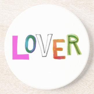 Lover partner girlfriend boyfriend spouse word art drink coaster