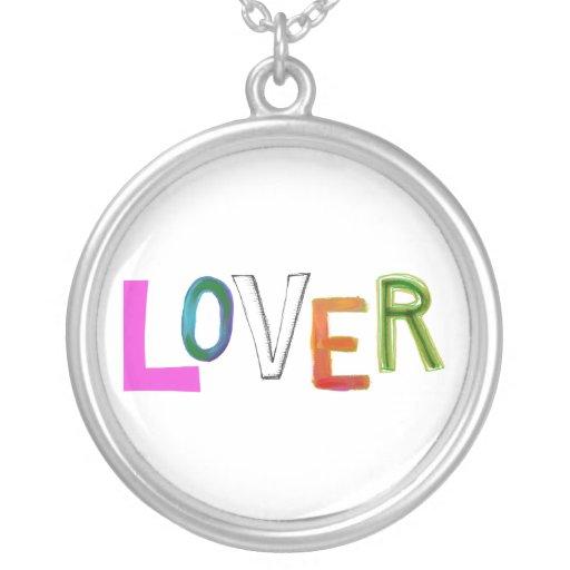 Lover partner girlfriend boyfriend spouse word art personalized necklace