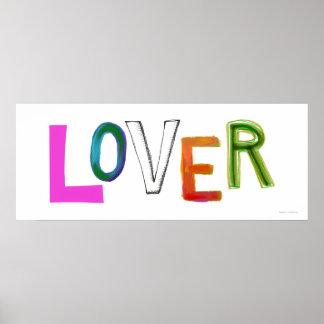 Lover partner girlfriend boyfriend spouse word art posters