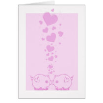 Lover Pigs Valentine's Day Cards