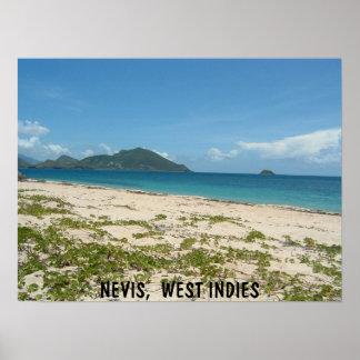 Lover s Beach Nevis Poster