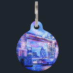 "Lover's London Dreams Pet ID Tag<br><div class=""desc"">Take a glimpse of a Lover's London Dreams with Eye of Illumination Designs!</div>"