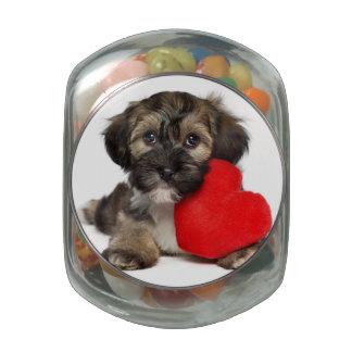 Lover Valentine Havanese Puppy Dog Glass Jars