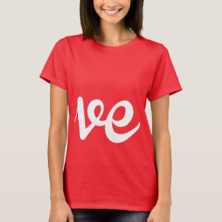 LOVER WRITING RIGHT - WHITE -.png T-Shirt