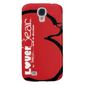 LoverBear by MARTINfree--iPhone 3G, swoosh red Samsung Galaxy S4 Case